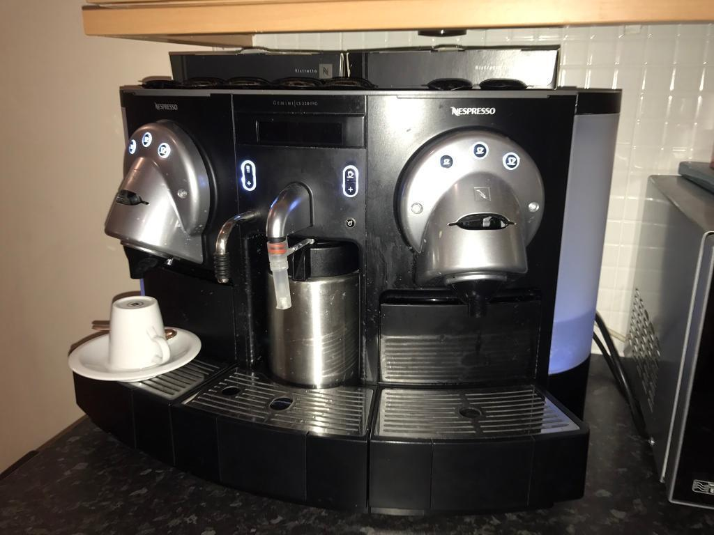 nespresso cs220 pro gemini professional commercial coffee. Black Bedroom Furniture Sets. Home Design Ideas