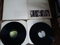 THE BEATLES WHITE ALBUM 2 LP REISSUE STEREO 711-1