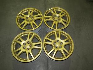 JDM 02-07 Subaru Impreza WRX STI 5X100 Gold Wheels 17X7.5 +53, Forester Legacy Outback