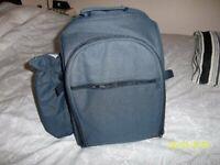 Rucksack with 4 piece picnic set and Hi Viz cover not shown. Kids school bag?