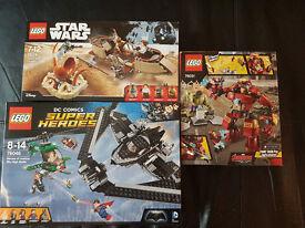 BRAND NEW Lego Sets BUNDLE: 75174 Star Wars, 76031 & 76046 SuperHeroes! No minifgrs