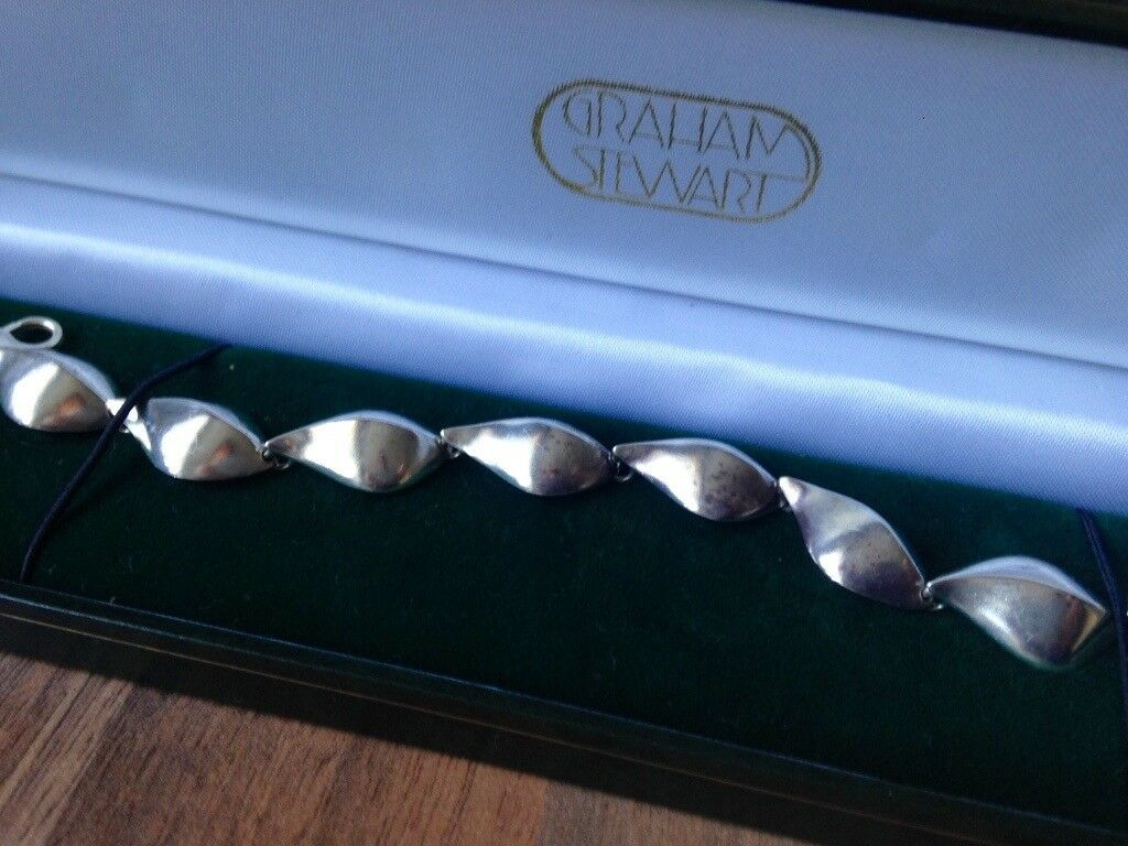 Solid Silver Bracelet - made by Graham Stewart, Dunblane