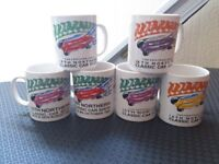 The G-Mex Manchester Classic Car Show Exhibitors Mugs 6 Mugs From the Shows (Selection )