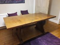 Rustic Solid Wood Dining Table - 6 seater £30