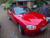 2004 Mazda MX5 Red 1.6L 85K