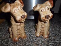 2 VINTAGE SYLVAC TERRIER DOG No.1378