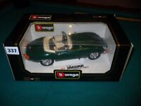 Burago Die Cast Jaguar E Type Cabriolet 1961 In Very Good Condition