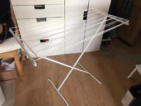 Ikea white steel airer cloths dry rack central London