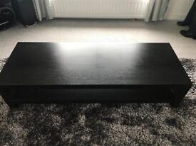 Ikea Coffee table;Dark wood effect.