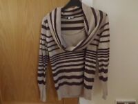 Ladies New Look Cowl Neck Jumper Size 12