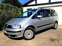 JUNE 2006 SEAT ALHAMBRA REFERENCE 2.0 TDI 6 SPEED 7 SEATER SERVICE HISTORY LONG MOT