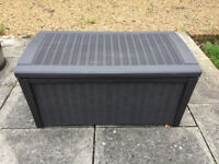 Keter Borneo Outdoor Plastic Storage Box Garden Furniture. Fully built and ready for delivery!