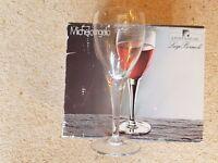 Box of Six Italian Crystal Wine Glasses BNIB