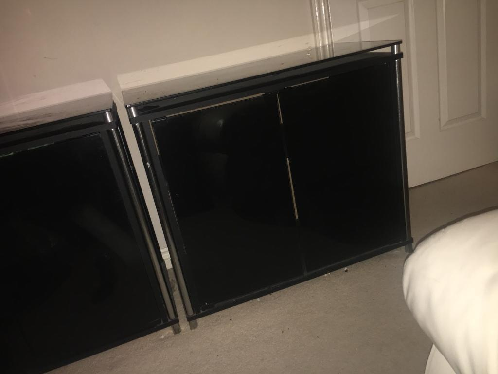 Modern Black glass living room furniture