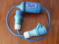 Electric meter for boat or caravan