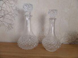 Pair of Cristal D'Arques decanters