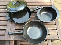 Ceramic cookware set Xtrema - wok, large skillet with lid & sauce pot - free of teflon & metals