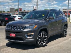 2017 Jeep Compass LIMITED**LEATHER**SUNROOF**NAV**BACK UP CAM**
