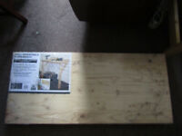 BNIB wooden work bench, wall mountable, foldable