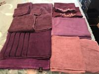 Variety of purple towels