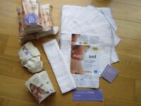 MIO WASHABLE NAPPY STARTER SET ~ NEW ~ NEWBORN 6-11LB ~ £10