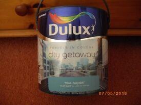 NEW - Dulux Paint Teal Facade - Flat Matt emulsion 2.5L £7.50