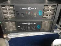Crest audio CA12 amplifier