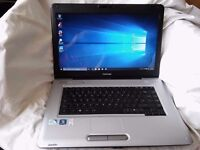 "Toshiba satellite pro L450 Laptop,250Gb hdd,3Gb Memory,15.6""screen,Hdmi Windows 10"