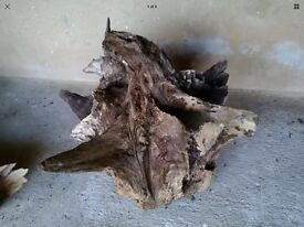 Large Decorative Tree, Stump, Root, Aquarium, Garden ,Driftwood Sculpture. 3ft wide, 2.6ft high