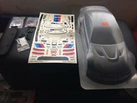 Brand New Official Hpi BMW M3 Gt2 Transparent 1/10 Body Shell With Light Fittings & Lights + Decals