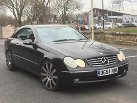 "2005 MERC CLK 240 AUTO COUPE * BLACK LEATHER * 19"" ALLOYS * LONG MOT * DELIVERY * PX WELCOME"
