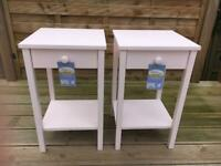 Pair of solid wood bedside table with drawer and shelf 2 available