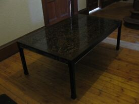Large Coffee Table 1970s Retro Style