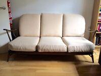 Vintage Ercol Windsor sofa 3 seater, reupholstered