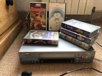 VHS PLAYER PLUS CHILDRENS FILMS
