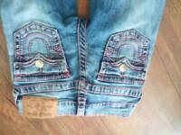 Girls original true religion jeans age 6