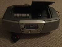 Sony AM/FM radio, cassette and CD player