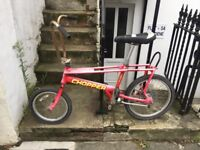 Vintage rare old school Raleigh red chopper bike project kids child's boys adults bicycle selling