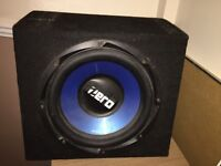 Subwoofer with wiring
