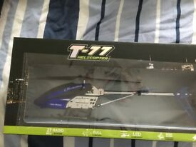 T-77 Helicopter. 3.5 channel. Brand new, box unopened. Unwanted gift.