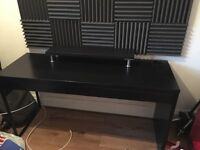 Ikea Micke computer table with monitor stand