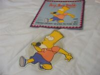 "Rare Bart and Homer Simpson- Shaped Picture Disc - 7"" Vinyl - 45 rpm - Two Tracks LP mix and Dance"