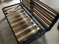 Used Ikea sofa bed frame & white cover