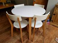 Hygena dining table and chairs