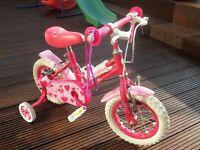 Appollo Sweetie 12 inch kids bike in pink