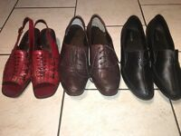 Mature aged, Women's shoes, 3 pairs, size 7, nearly new