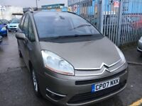 CITROEN GRAND PICASSO AUTOMATIC DIESEL 2.0 HDI EXCLUSIVE EGS SERVICE HISTORY 7 SEATER 2007