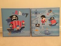Set Of 2 pirate Canvas Pictures from the Next range