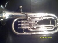 A SUPERB PRO MODEL TENOR HORN in PERFECT CONDITION in A STURDY CASE + MOUTHPIECE +++++++