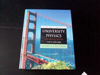 University Physics by Sears & Zermansky Tenth Edition Large Hardback